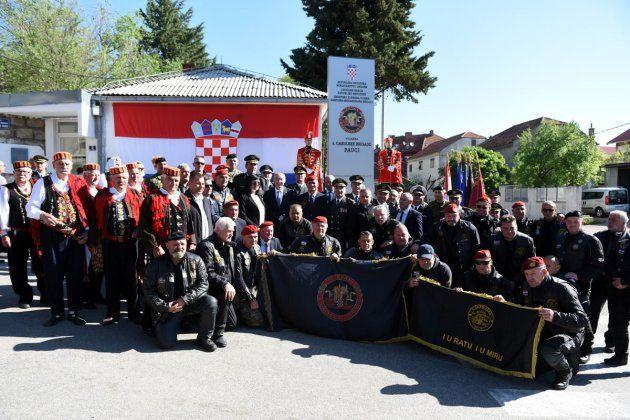 """Imenovana vojarna """"4. gardijske brigade Pauci"""" u Kninu i otvorena spomen-soba"""