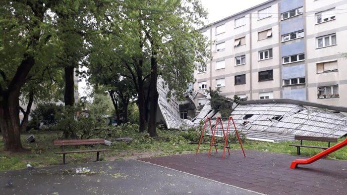 ZAGREBAČKA POLICIJA UPOZORAVA:  zbog olujnog vjetra preporučuje se građanima da bez potrebe ne izlaze na otvoreno