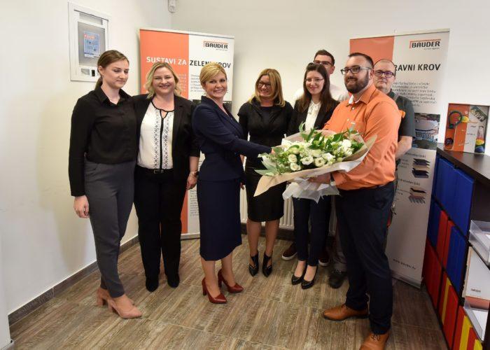 Predsjednica Grabar-Kitarović u Vukovaru se susrela s mladima i poduzetnicima