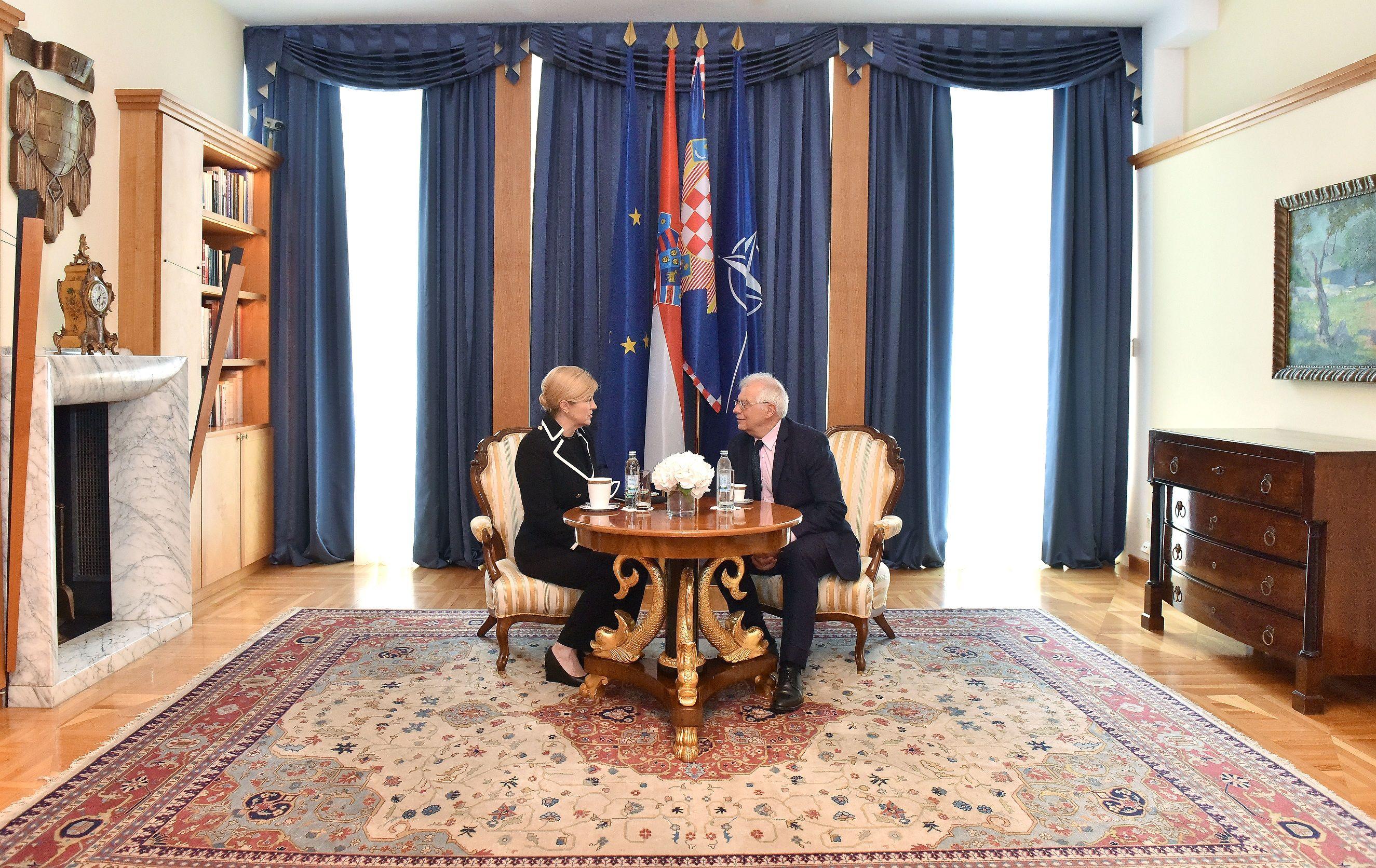 Predsjednica Grabar-Kitarović i španjolski ministar vanjskih poslova Borrell: Hrvatska i Španjolska dijele slične interese