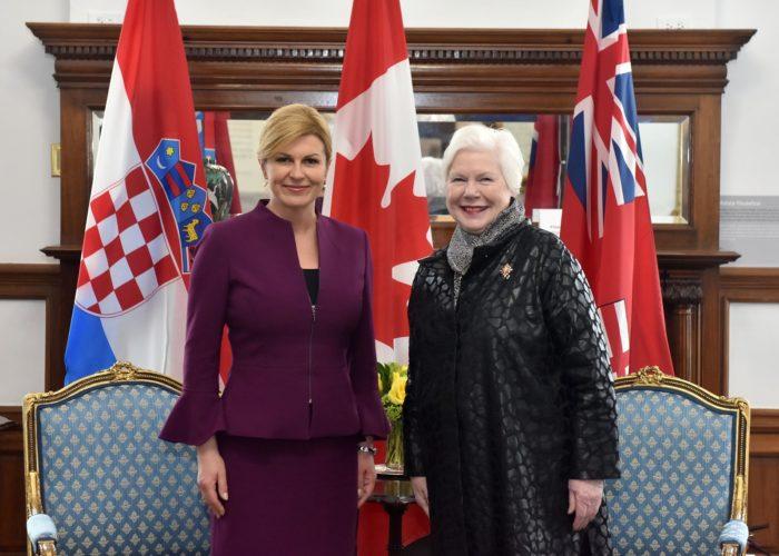 Predsjednica Grabar-Kitarović se susrela s guvernerkom Ontarija Elizabeth Dowdeswell