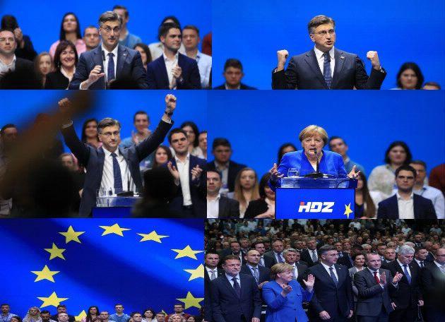HDZ-ov središnji predizborni skup za EU izbore: Plenković urlao o snazi HDZ-a i o tome da je to najjača stranka