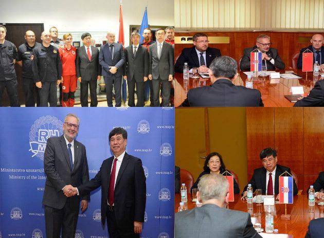 Božinović se sastao sa zamjenikom kineskog ministra za izvanredne situacije Fu Jianhuom