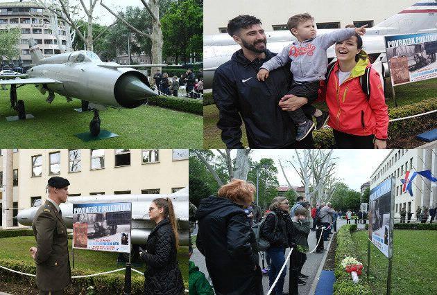 """Više od 50 tisuća ljudi vidjelo Perešinov MIG-21 izložen ispred MORH-a: """"Avion podsjeća na vremena koja ne smijemo zaboraviti, izgleda veličanstveno"""""""