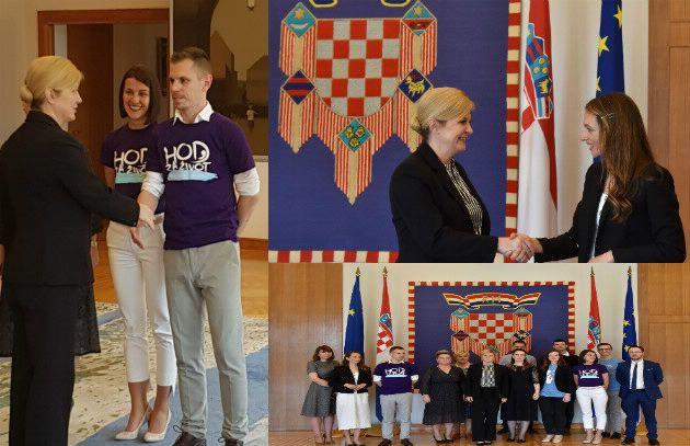 """Predsjednica Kolinda Grabar-Kitarović primila članove inicijative """"Hod za život"""""""