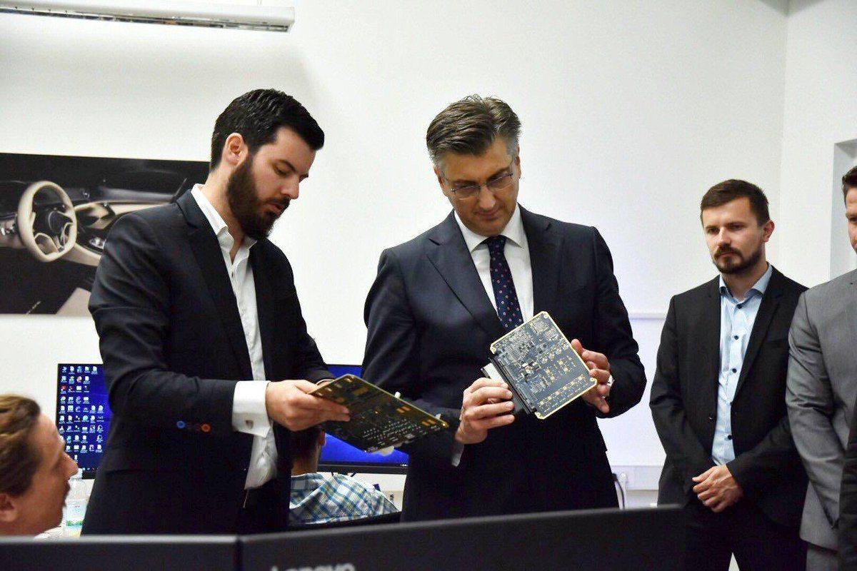 Premijer Plenković i ministri u Rimac Automobilima o potencijalima autoindustrije