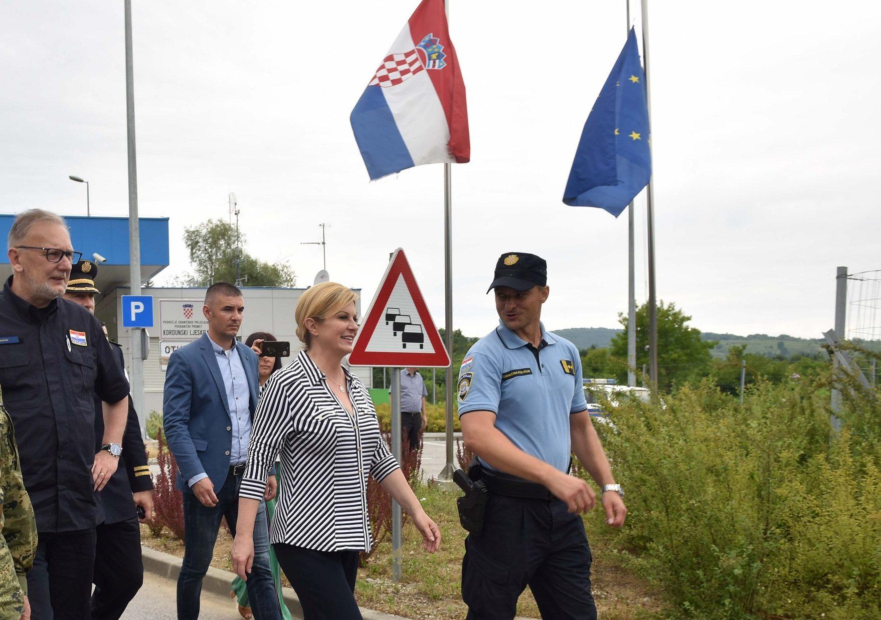 Predsjednica Grabar-Kitarović: Neću dopustiti blaćenje hrvatskih policajaca