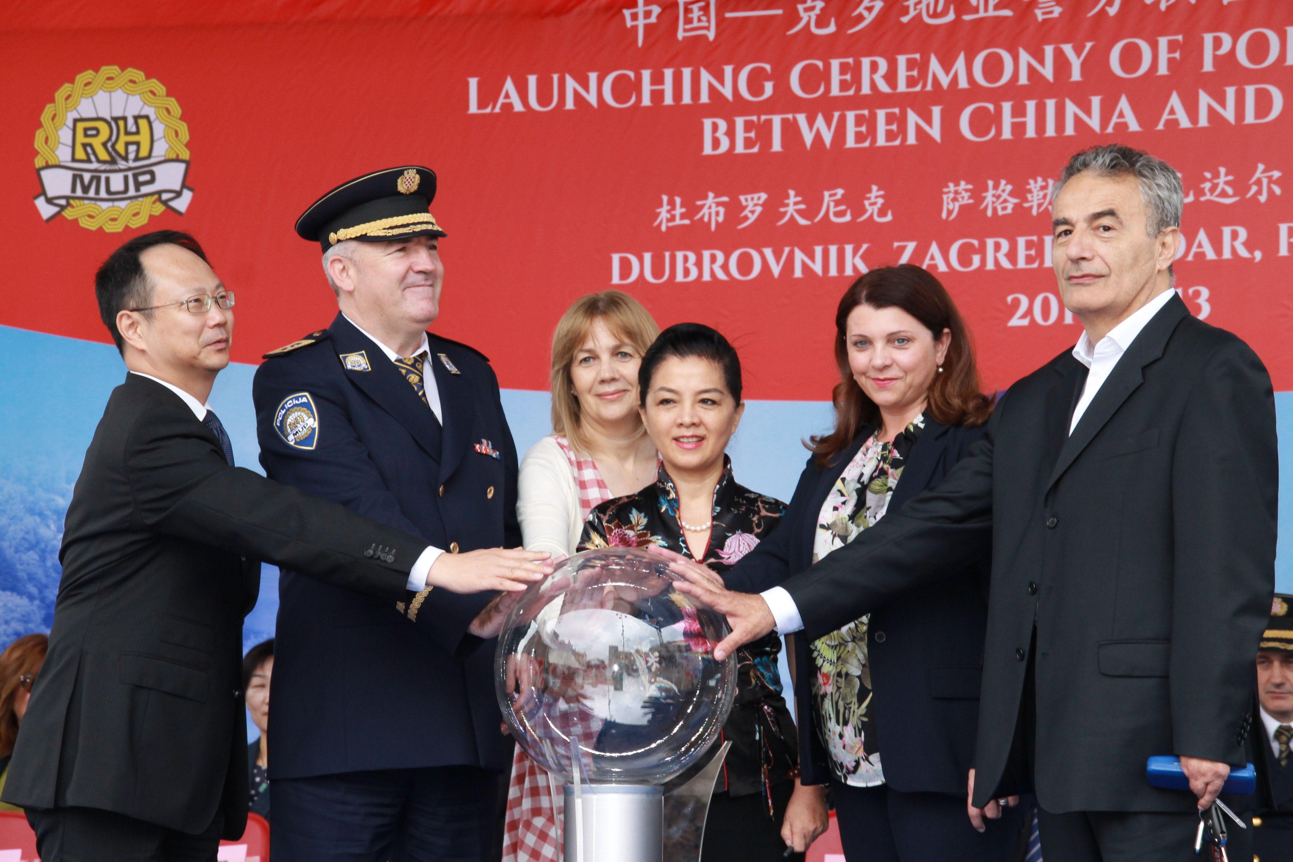 Svečanost u povodu sudjelovanja kineskih policajaca u projektu Sigurna turistička sezona