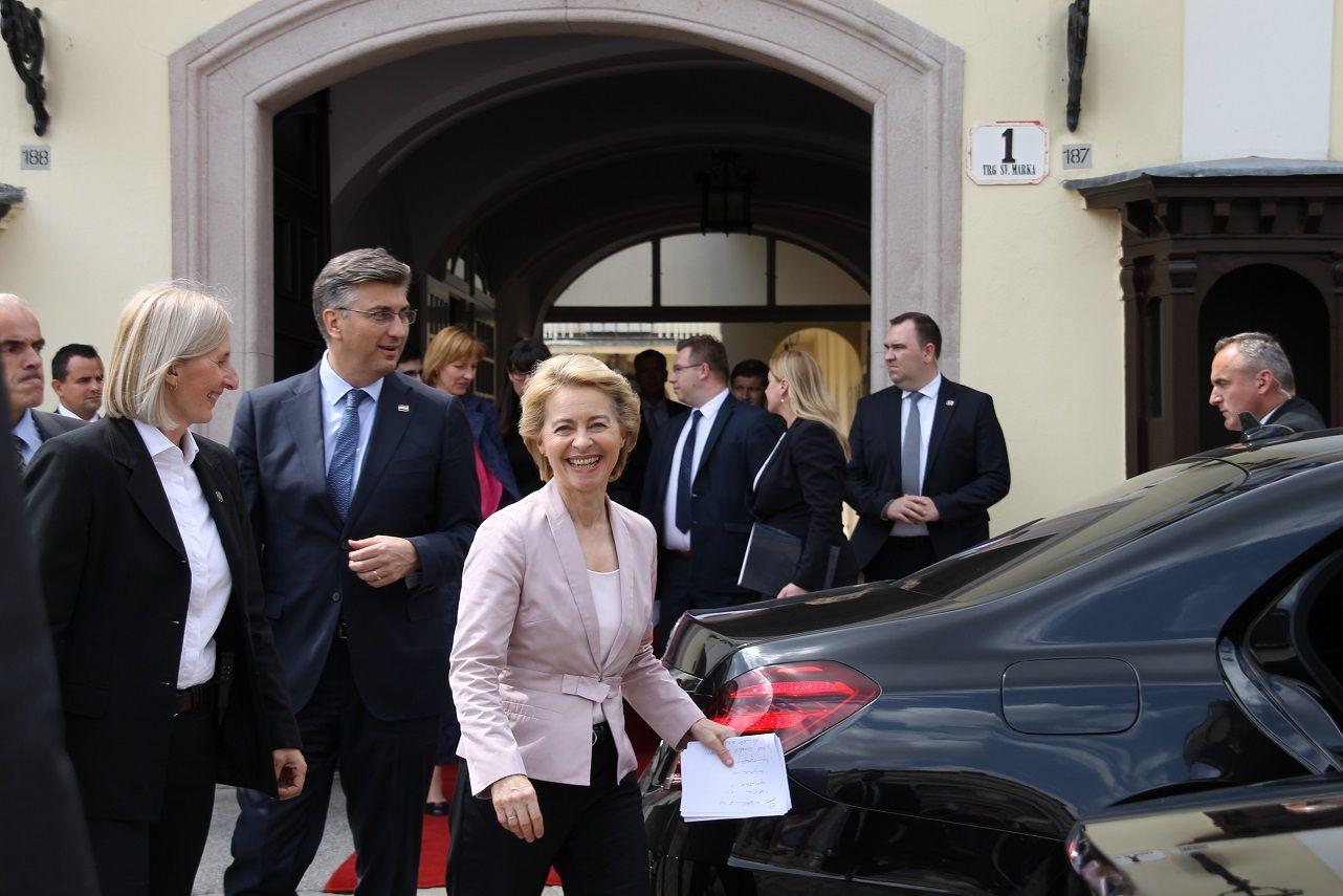 """Von der Leyen u Zagrebu: """"Moj cilj je uravnotežiti Europsku uniju. Istok, zapad, sjever i jug. Male i velike, mlađe i starije članice"""""""