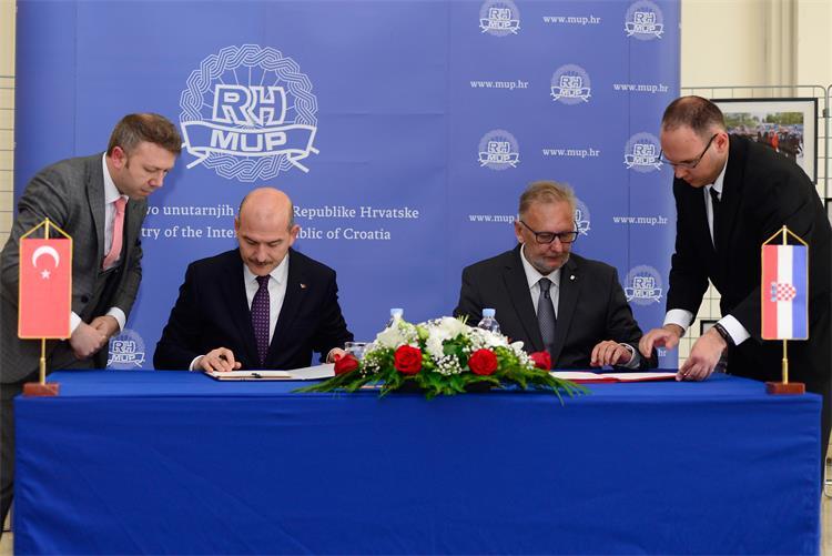 Božinović s turskim ministrom unutarnjih poslova potpisao Memorandum o suradnji policijskih akademija
