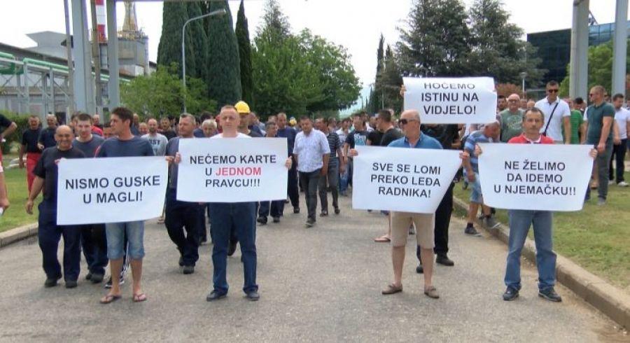 Prosvjedi i Čovićeva lažna obećanja radnicima da Aluminij neće u stečaj