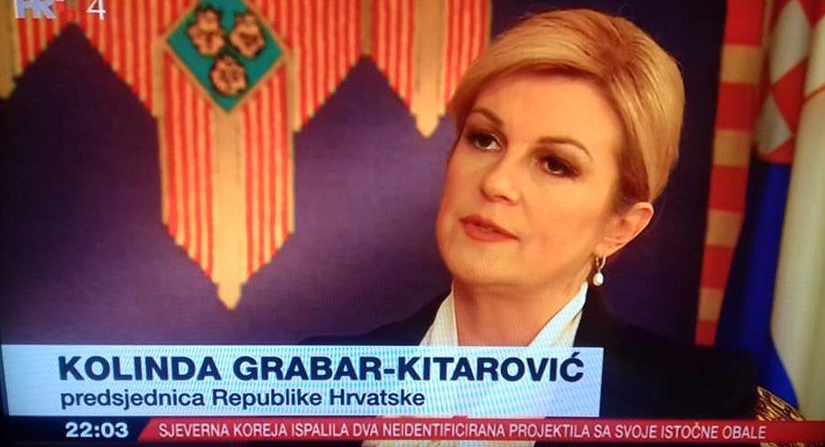 """Grabar-Kitarović: """"Komšić mora shvatiti da je ne samo etnički, nego i politički predstavnik hrvatskoga naroda"""""""
