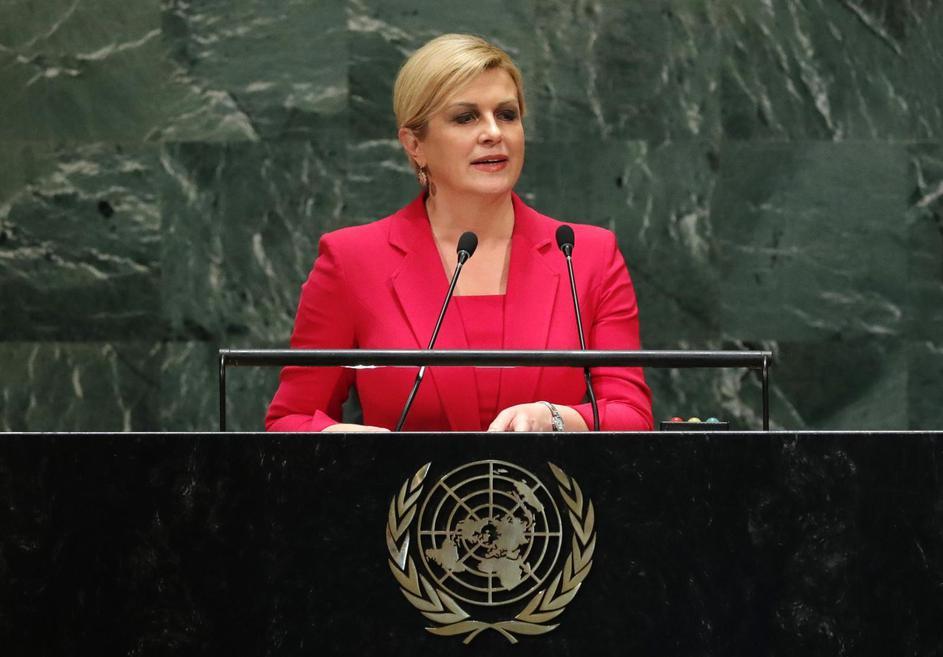 Hrvatska predsjednica Kolinda Grabar-Kitarović u UN-u: Prestanite bacati otpad u oceane i mora