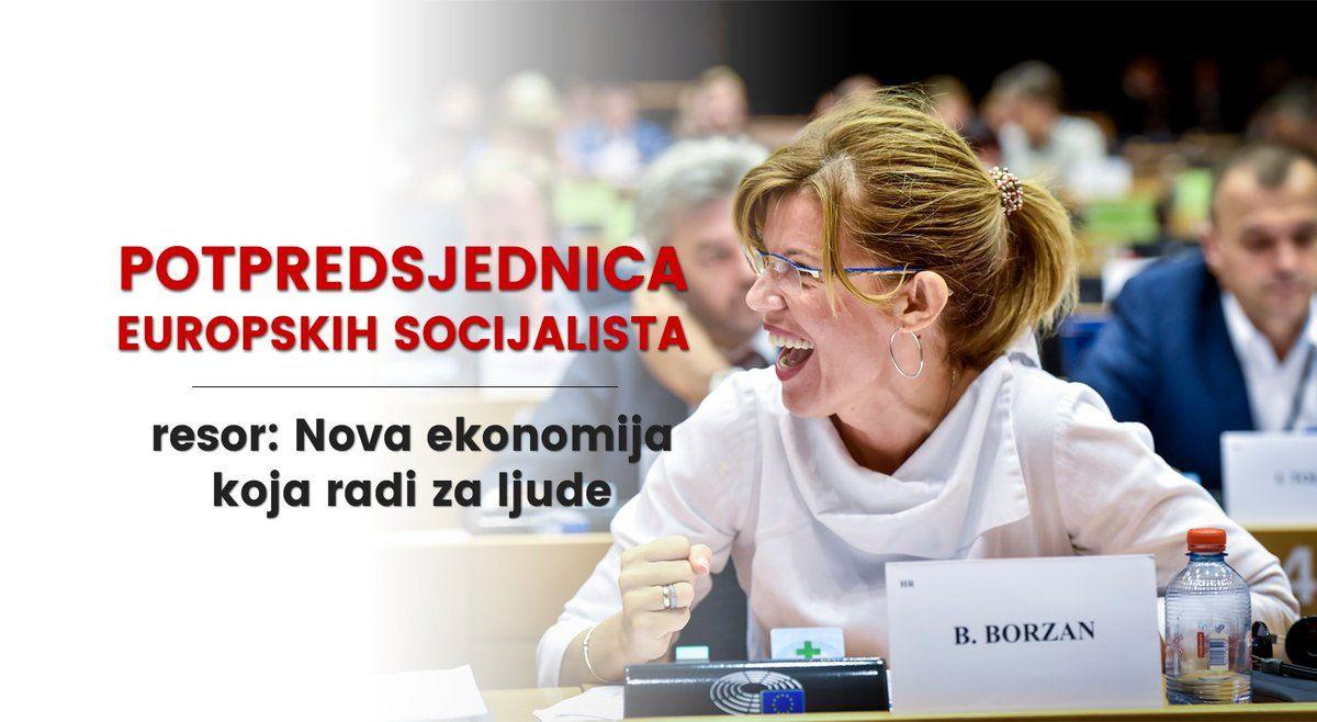 Socijaldemokrati u Europskom parlamentu izabrali Borzan za potpredsjednicu zaduženu za ekonomiju