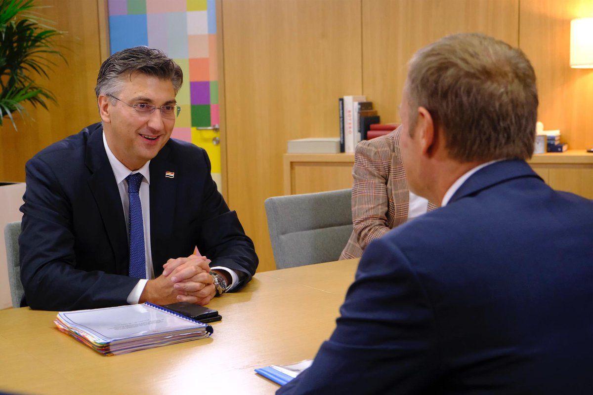 Plenković: Hrvatski prioriteti za predsjedanje Vijećem EU-a dobro prihvaćeni u Bruxellesu