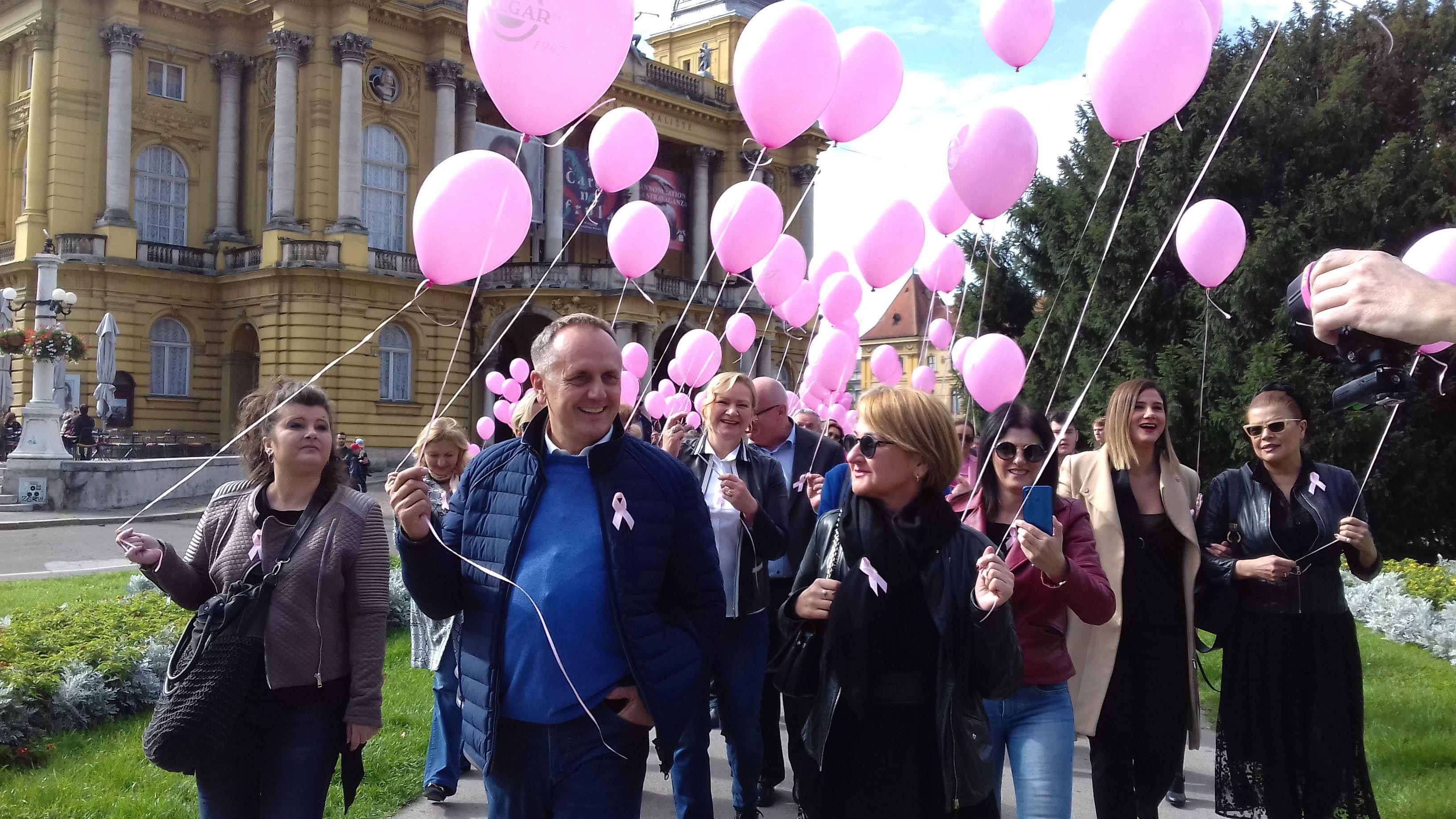 Obilježen 20. Dan ružičaste vrpce: upozoriti na važnost ranog otkrivanja raka dojke da se poveća broj izlječenja