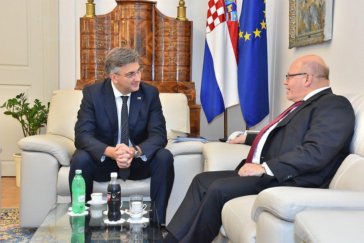 Plenković i Altmaier za intenziviranje gospodarske suradnje između Hrvatske i Njemačke