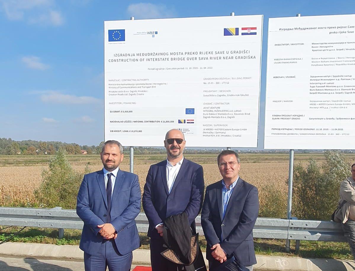 IGH započeo s nadzorom radova na prekograničnom mostu preko rijeke Save kod Gradiške u BiH