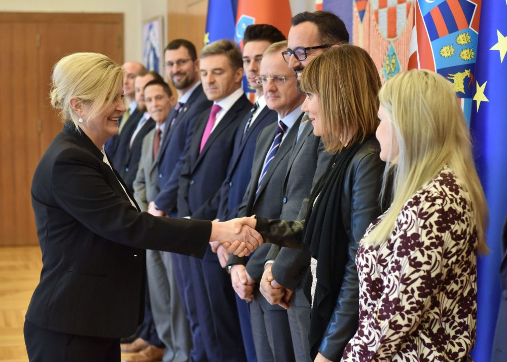 Grabar-Kitarović primila predstavnike Američko-srednjoeuropske poslovne udruge (ACEBA)