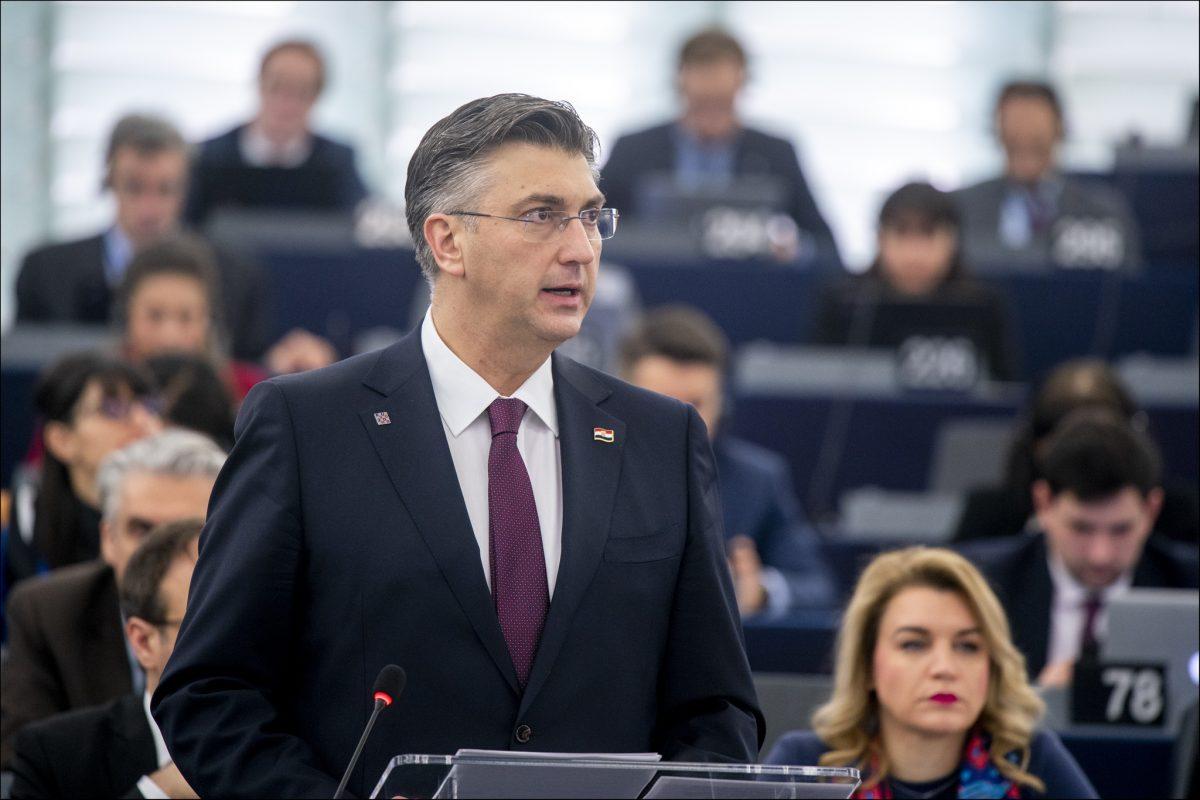 """Plenković u Europskom parlamentu: """"Hrvatska neće dopustiti da bude država koja će biti neformalni hotspot"""""""