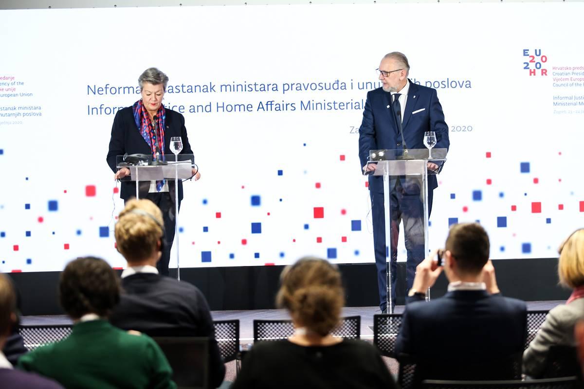 Božinović i Johansson: Kriminalne skupine u Europi zarađuju 110 milijardi eura