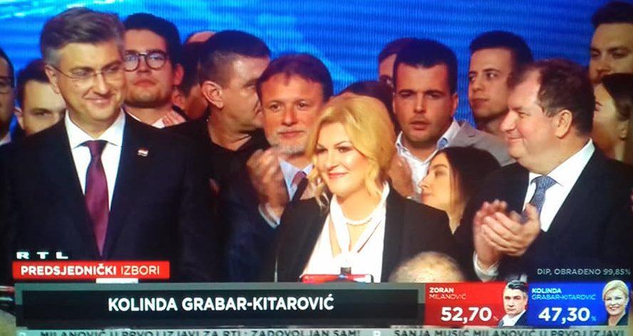 HDZ-ova kandidatkinja Grabar-Kitarović: Pružam ruku Zoranu Milanoviću