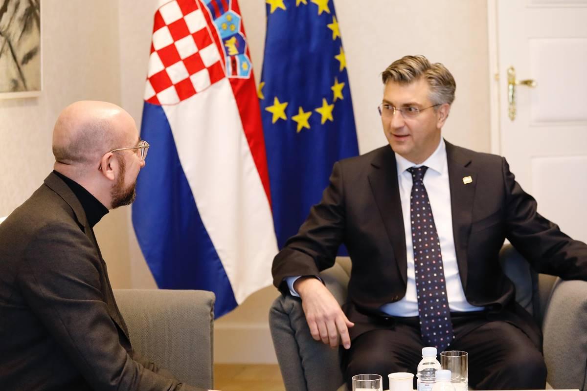 Plenković s Michelom razgovara o europskom proračunu