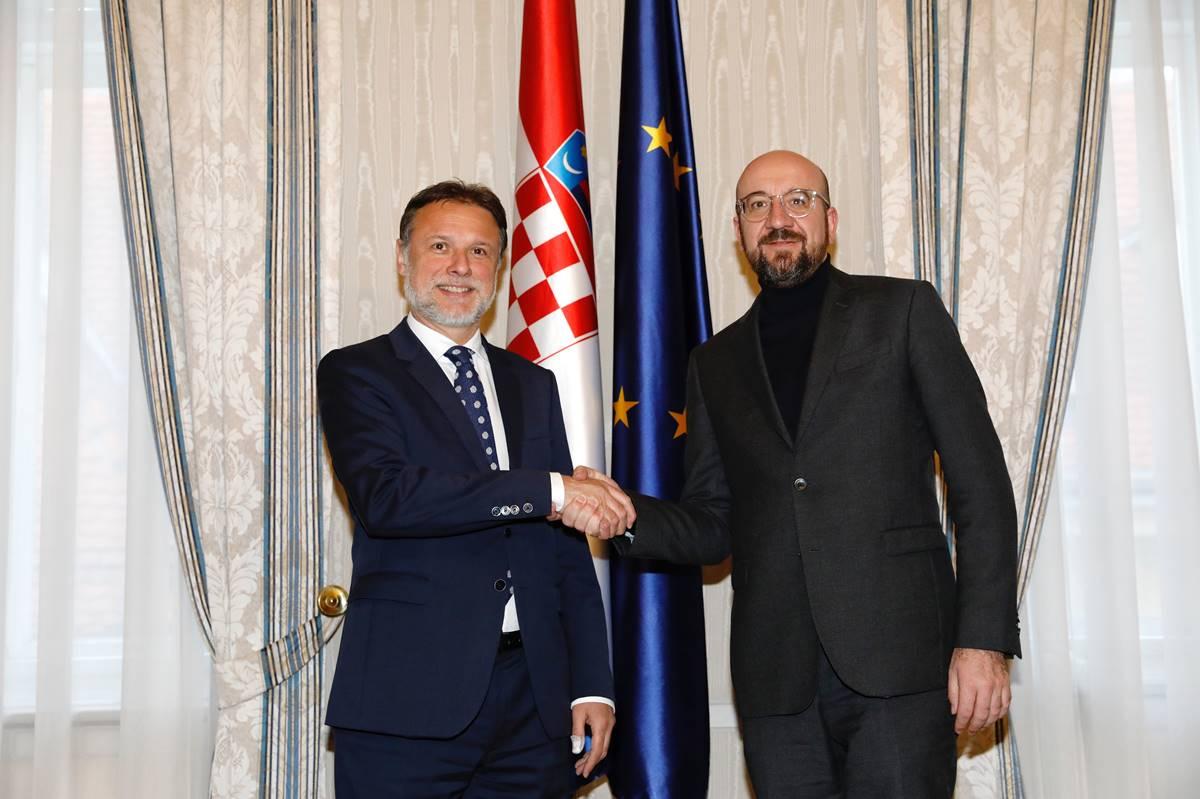 Jandroković s Michelom o parlamentarnim sastancima tijekom predsjedanja EU-om