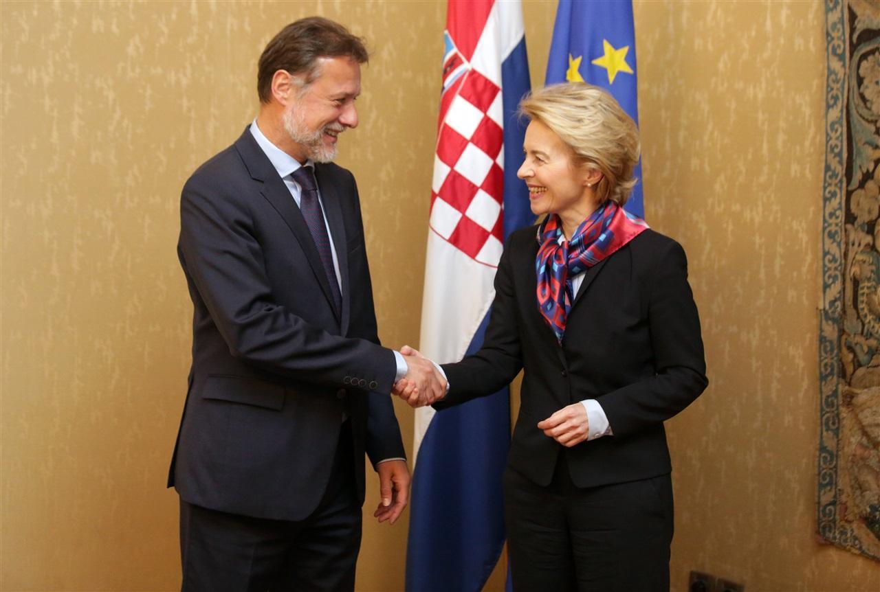 Jandroković se sastao s predsjednicom Europske komisije Ursulom von der Leyen