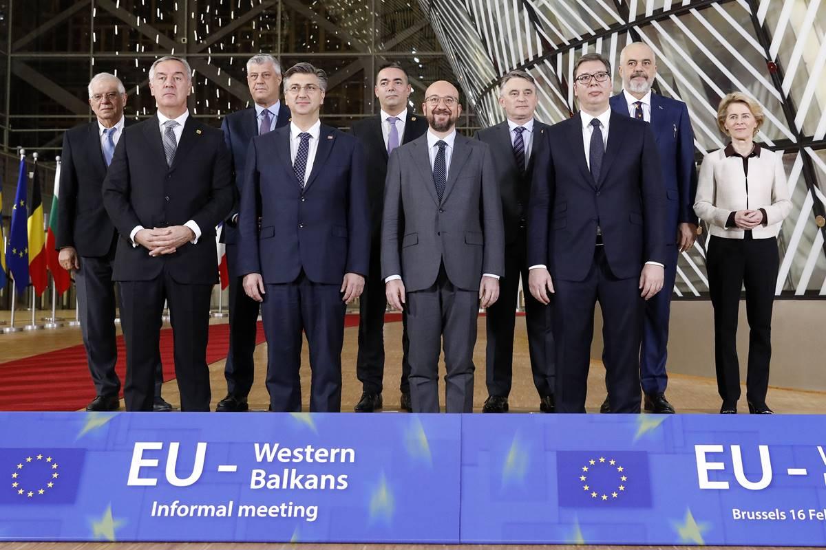 Čelnici EU-a na radnoj večeri s čelnicima zapadnog Balkana