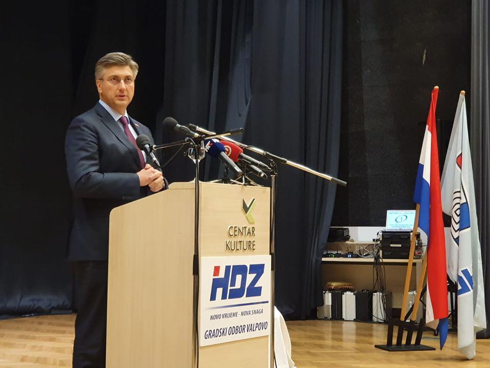 Plenković: HDZ je bio predvodnik svih ključnih procesa proteklih 30 godina