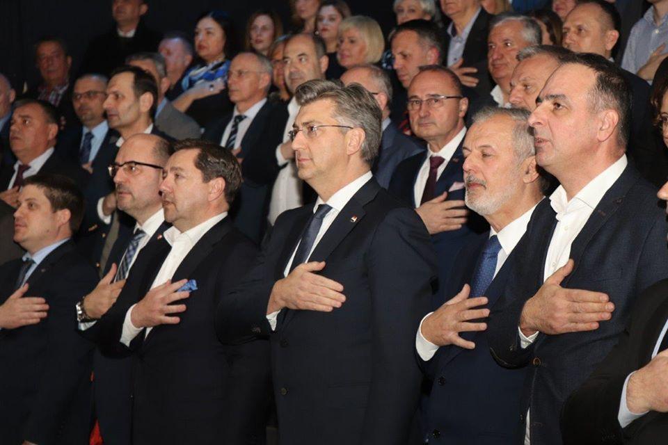 """Plenković: """"Kada je HDZ jedinstven, kada se svi lovimo za jedan štap, tada pobjeda HDZ-a nije u pitanju"""""""