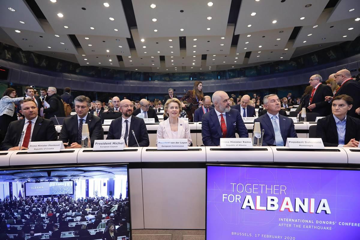 MEĐUNARODNA SOLIDARNOST: Na donatorskoj konferenciji za Albaniju prikupljeno 1,15 milijardi eura