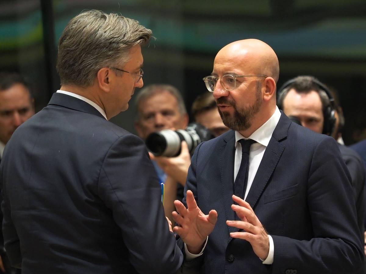 Predsjednik Europskog vijeća Michel započeo s bilateralnim sastancima, najprije s hrvatskim premijerom Plenkovićem