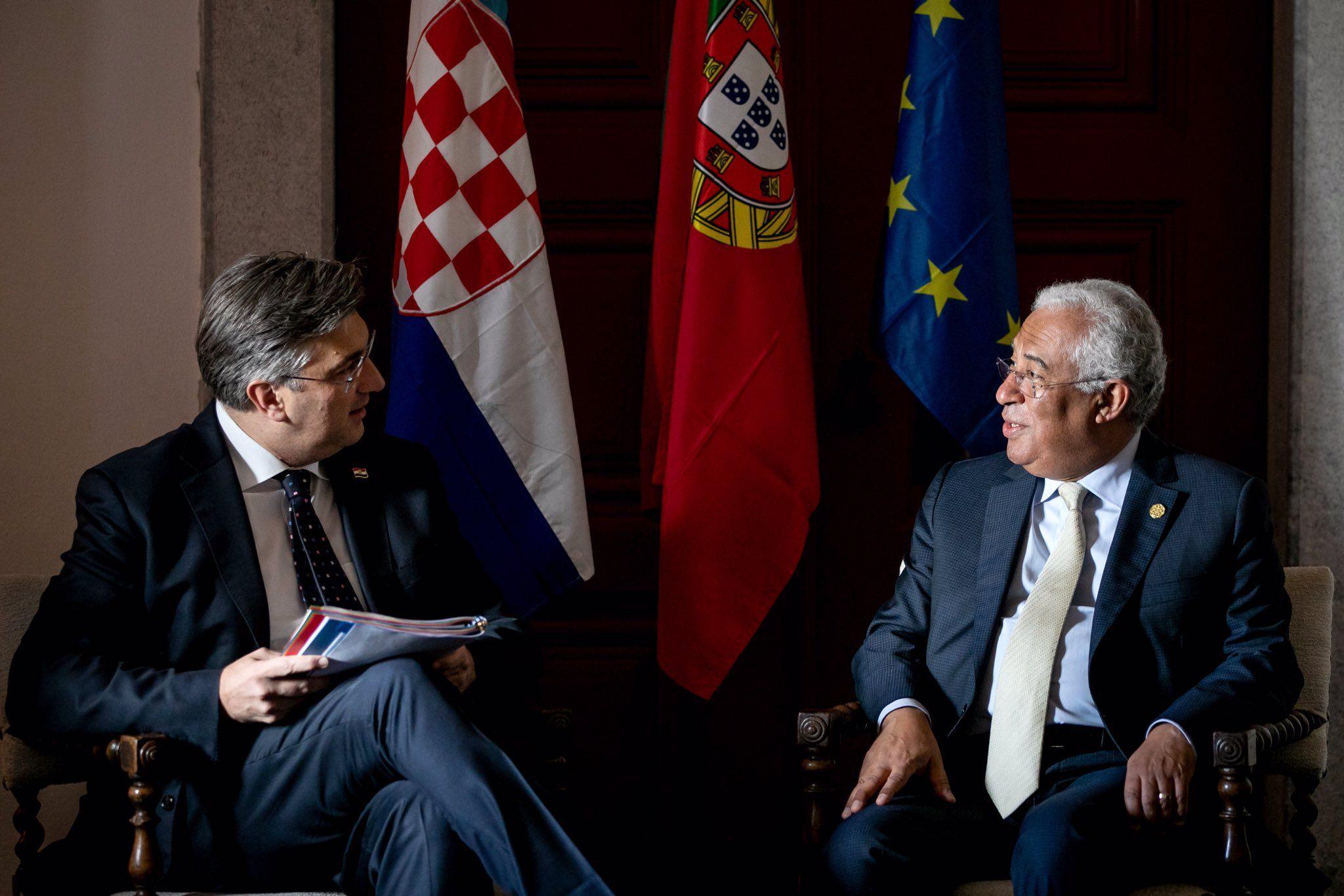 Hrvatski premijer Andrej Plenković u radnom posjetu Portugalu, na samitu Prijatelja kohezije
