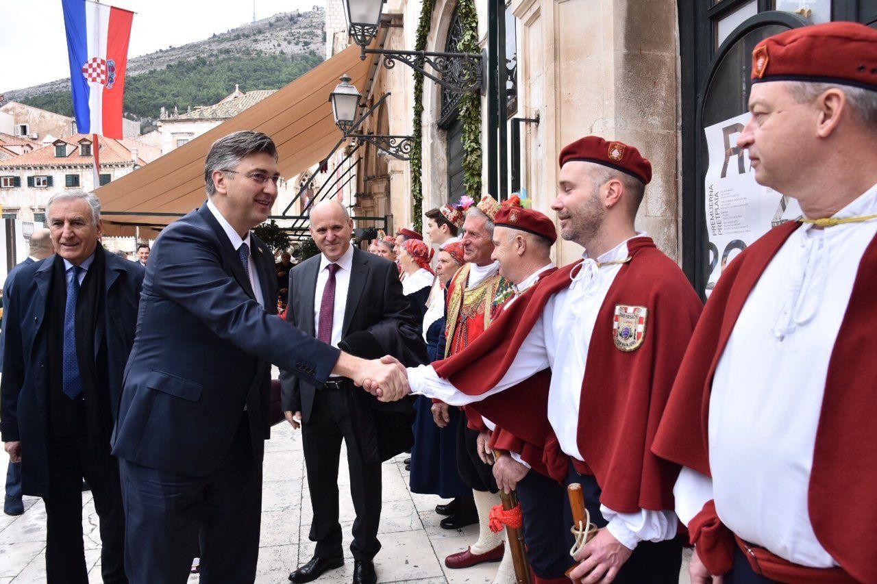 U POVODU BLAGDANA SVETOG VLAHE I DANA GRADA Plenković: U Dubrovniku ostvarena sinergija Grada i Vlade