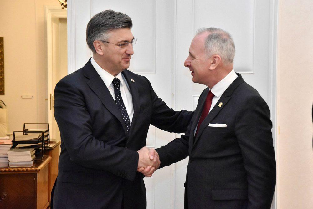 Plenković i Krstulović Opara razgovarali o projektima važnim za razvoj Splita