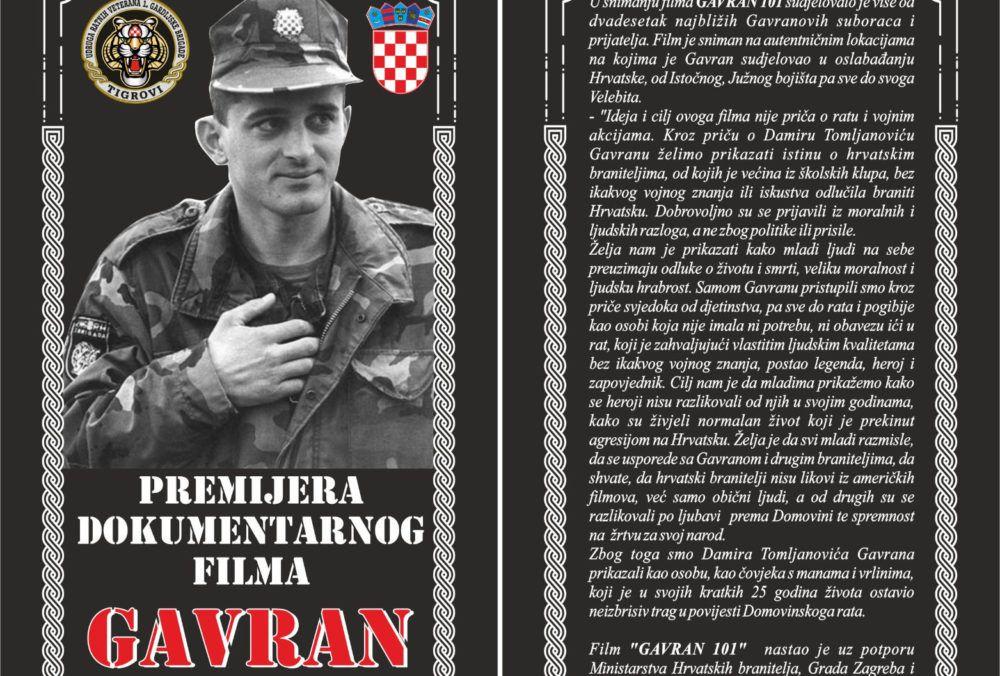 """U ČAST HEROJU: Na HVU premijera Dokumentarnog filma """"Gavran 101"""""""