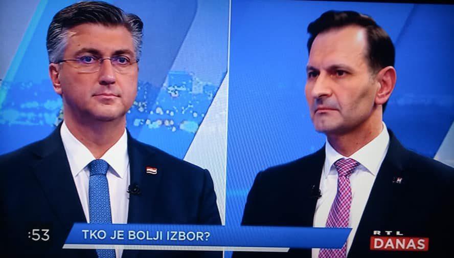 """Plenković očitao lekciju Kovaču na sučeljavanju na RTL-u: """"Ono je bio klon gospodina Kovača. Hologram na pressici u HDZ-u koji je zagovarao ratifikaciju Istanbulske konvencije"""""""