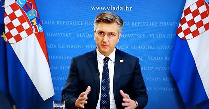 HRVATSKI PREMIJER Plenković: Moramo poduzeti sve da bude što manje izgubljenih života u pandemiji koronavirusa