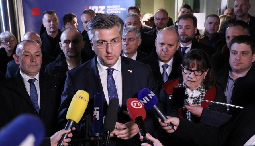 """Plenković: """"Ovo je sada najuže vodstvo ljudi koji su posebni, vjerujem da ćemo uspješno voditi stranku do pobjede na parlamentarnim izborima"""""""