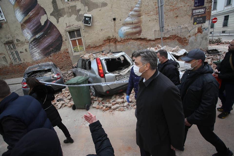 Plenković zahvalio svim službama na angažmanu nakon potresa