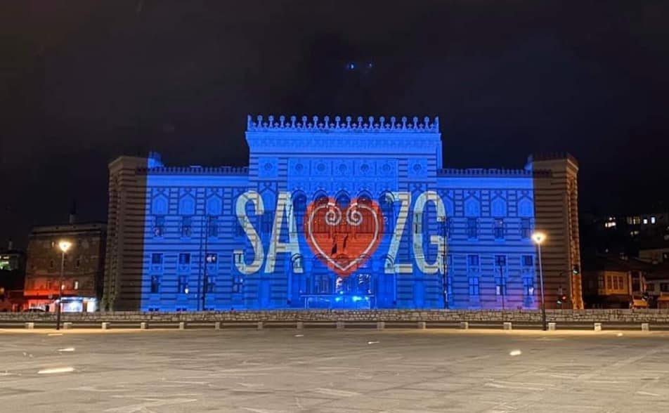 """Poruka potpore i prijateljstva iz glavnog grada BiH: """"Sarajevo voli Zagreb"""""""