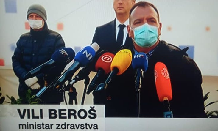 Beroš: Još uvijek smo u uzlaznoj krivulji epidemije koronavirusa