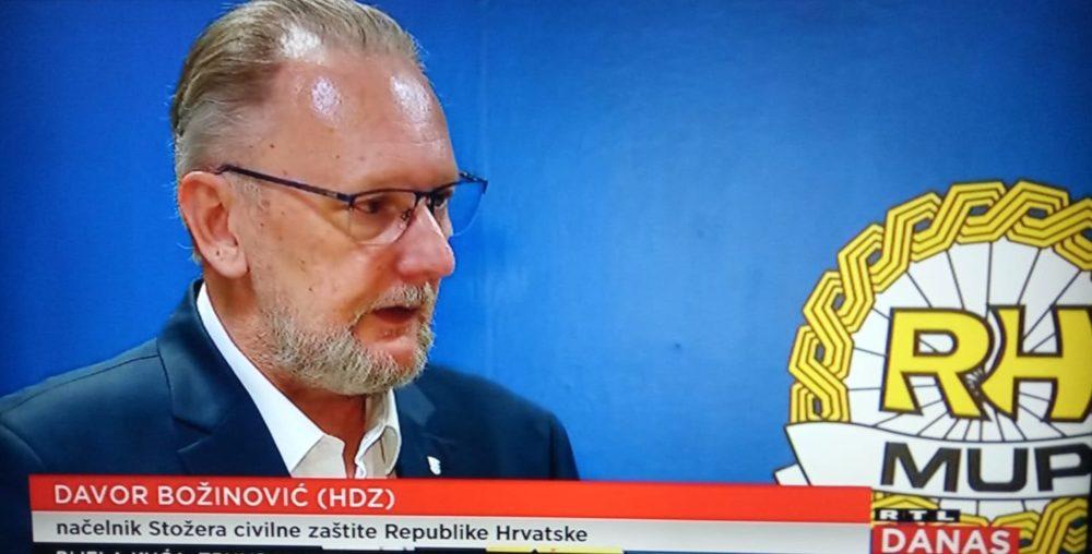 Predsjednik Stožera civilne zaštite ministar MUP-a Božinović za RTL o širenju koronavirusa: Činimo sve da Hrvatska ne postane crvena zona kao Italija