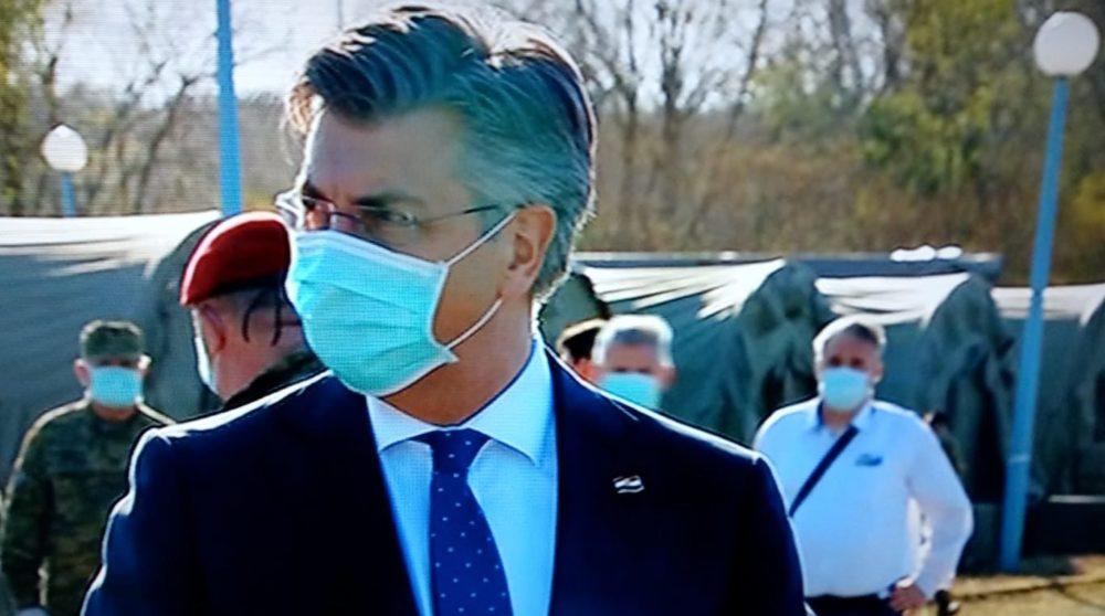 HRVATSKI PREMIJER Plenković obišao šatore za oboljele od koronavirusa pred KB-om Dubrava