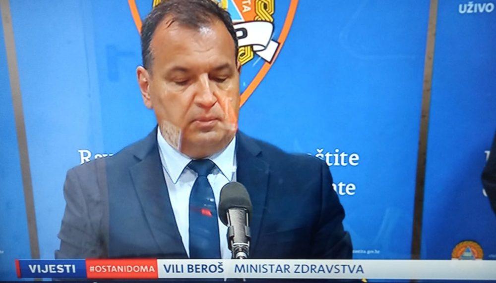 NACIONALNI STOŽER Ministar zdravstva Vili Beroš: 77 novih slučajeva koronavirusa, ukupno 790 zaraženih u Hrvatskoj, oporavljenih je 64