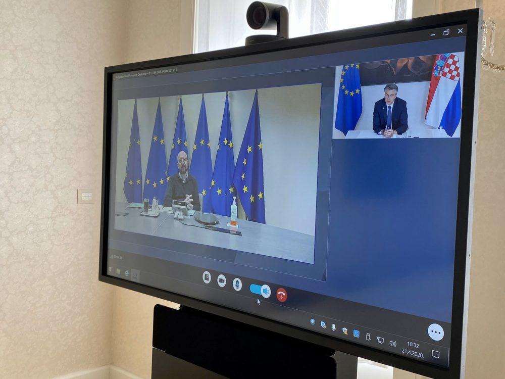 Plenković video-vezom s Michelom o pripremama za virtualni samit EU-a