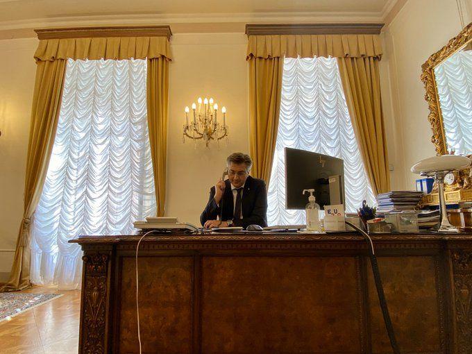 HRVATSKI PREMIJER Plenković razgovarao s europskim čelnicima o ponovnom pokretanju turizma