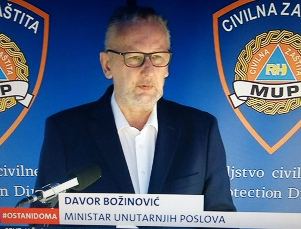 VODITELJ NACIONALNOG STOŽERA Božinović: Policija intenzivno radi na identificiranju okupljenih ispred splitske crkve